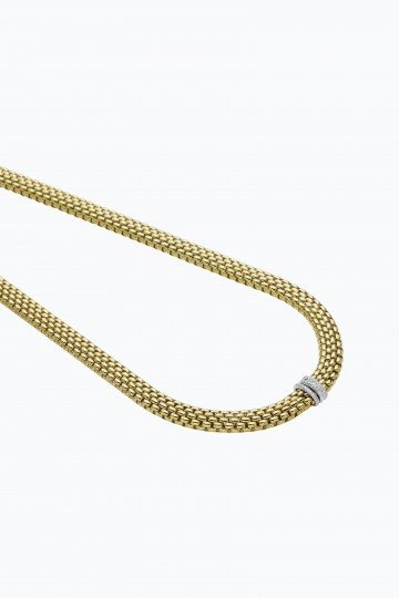 Necklace with diamonds pave'