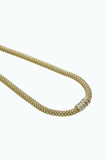 Necklace with diamonds