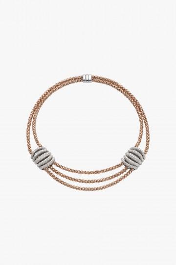 Necklace with diamond pave'