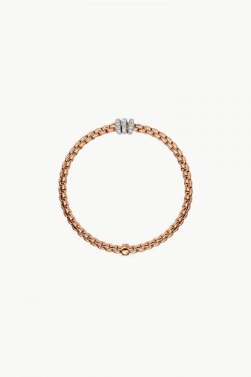 Flex'it bracelet with diamonds pavé