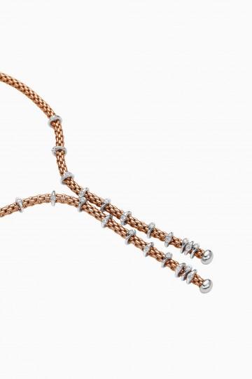 Lariat with diamond pavé