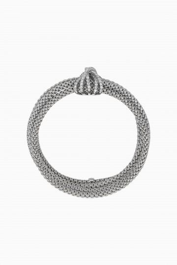 Flexible bracelet with diamond pavé