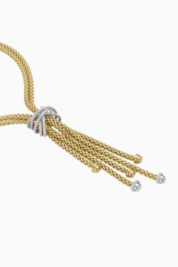 Lariat with diamond pavé