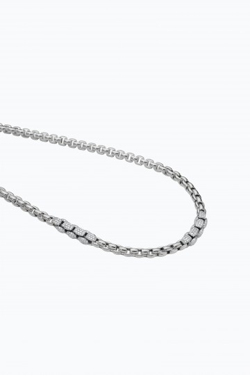 Long necklace with diamond pave'