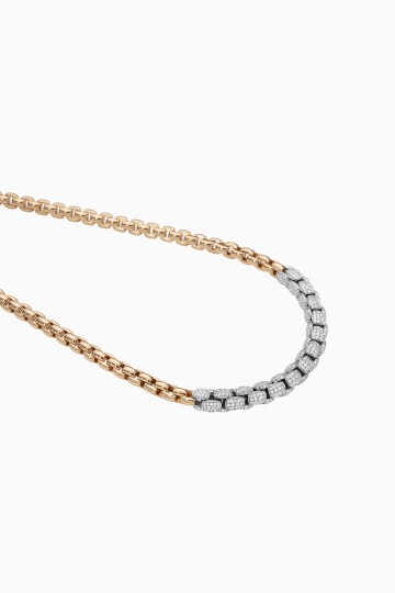 Necklet with diamond pave'