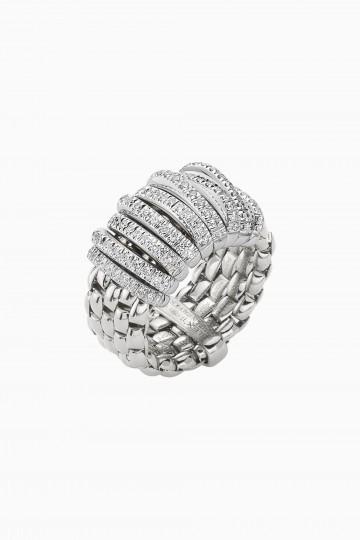 Flex'it ring with diamonds pave'