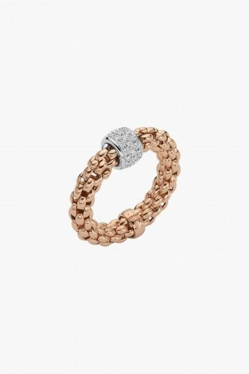 Flex'it ring with diamond pave'