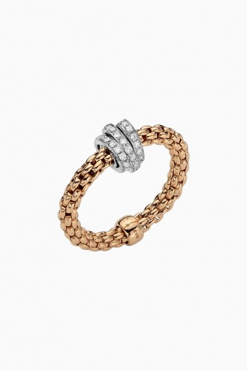 Flex'it ring with diamond pavé
