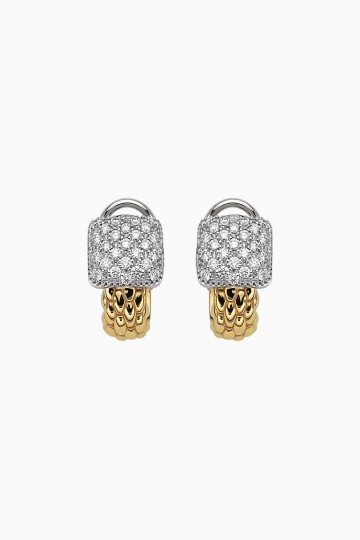 Earrings with diamond pavé