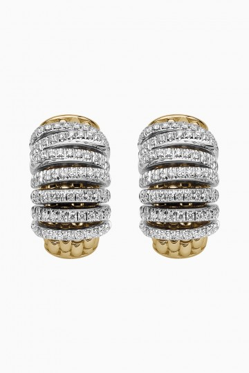 Earrings with diamond pave'