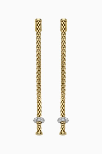 Pendant earrings with diamonds